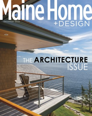 Maine Home & Design Cover (December 2013) | | Brian Vanden Brink on beautiful homes and design, maine jacuzzi and fireplace, luxe interiors and design, maine coastal homes, florida home and design, maine animals, maine agriculture, california home and design, maine coast kitchen design, maine waterfront mansion, charleston home and design, new england home and design, decorating and design, maine houses, colorful maine cottage design, maine interior design, maine log homes,